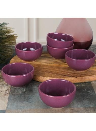 Keramika Keramika Mor Bulut Çerezlik/Sosluk 8 Cm 6 Adet Renkli